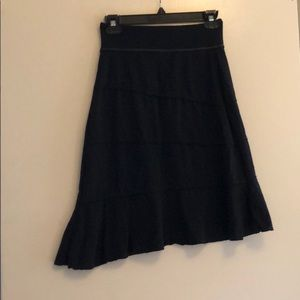 Athleta crescendo black skirt size xxs